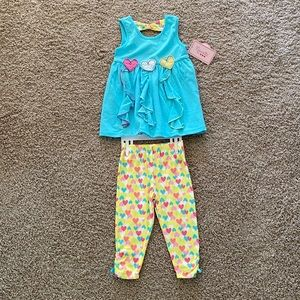 COPY - Nannette girls 4t summer shirt and pants o…